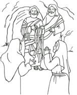 Jesus Raises Lazarus From The Dead Free Image