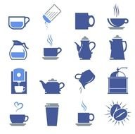 Coffee Shop Icons drawing