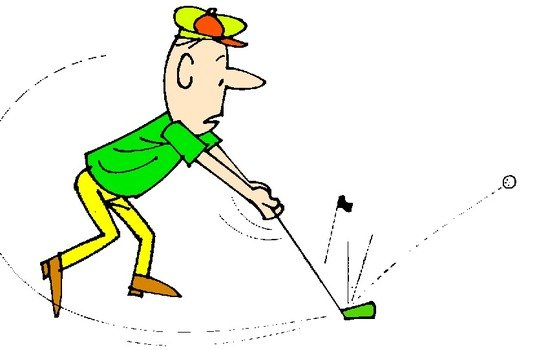 Guy playing golf clipart