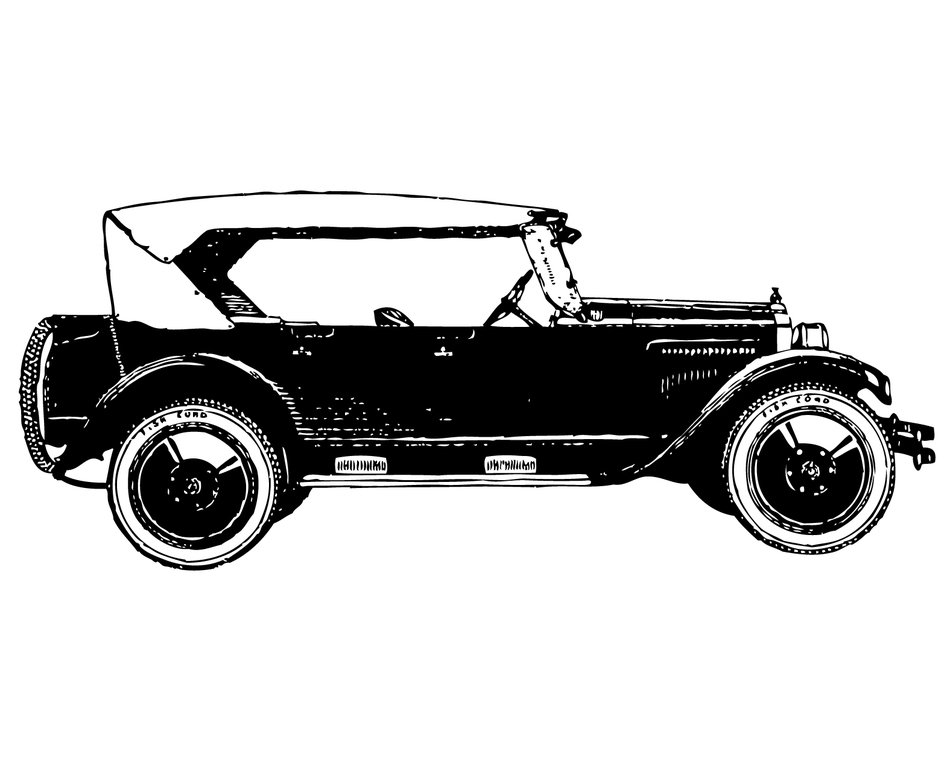 old Vintage Car drawing