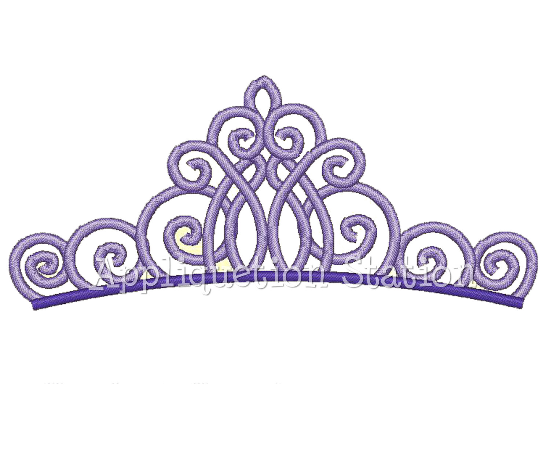 Tiara Princess Crown Applique Embroidery Design Free Image