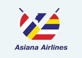 Asiana Airlines Logo drawing