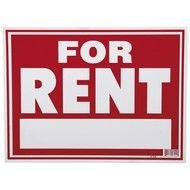 for Rent Sign text