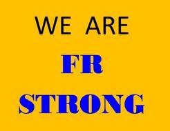 we are fr strong, banner
