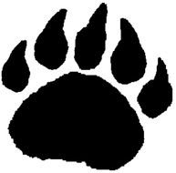 black Bear Paw Print drawing