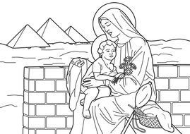 Virgin Mary Coloring Page drawing