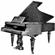 retro Piano Clip Art drawing