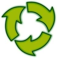 Recycle green sign Clip Art drawing