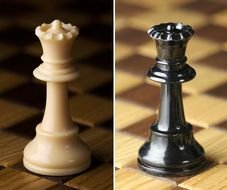 Black Queen and Chess Piece