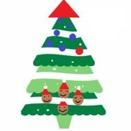 isolated drawn Christmas Tree