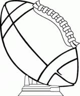 coloring page with American football ball