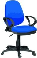 painted blue office chair