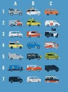 Famous Movie Cars drawing
