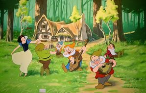 illustration for Snow White and Seven Dwarfs