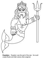 Poseidon Greek God Coloring Pages N2 Free Image - Greek-god-coloring-pages