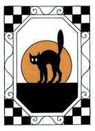 Scared Halloween Cat clipart
