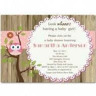 Owl Baby Shower Invitation Wording