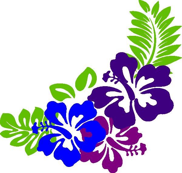 Purple Hibiscus Flower Clip Art N3 Free Image