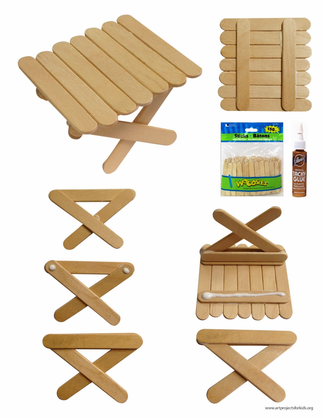 popsicle stick projects Craft sticks for your child's creative art projects popsicle sticks in hues of blue, green, red and yellow for an attractive appearance wood material for durability.