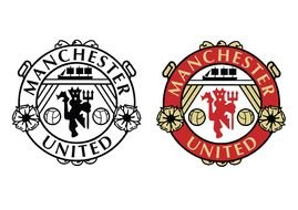 Manchester United Logo Black And White Drawing