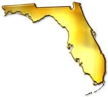 Colorful Florida Outline clipart