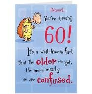 Funny 60th Birthday Card Sayings