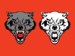 Angry Wolf Clip Art drawing