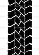 clipart of the Tire Tracks