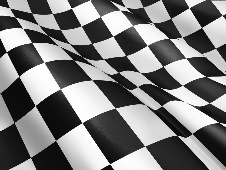 Black And White Checkered wave Flag