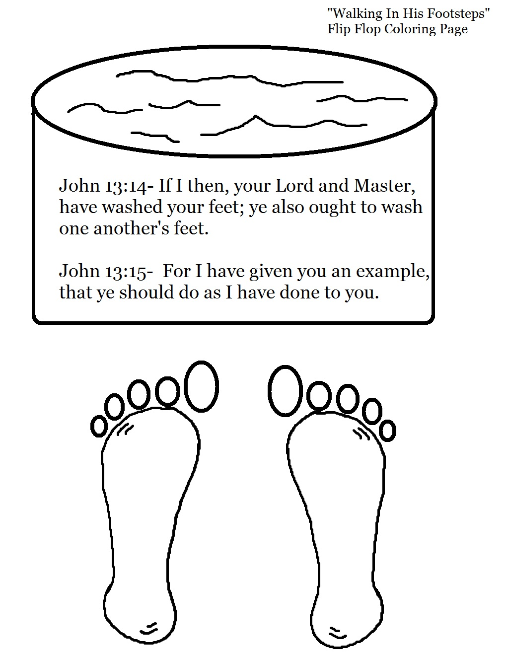 Jesus Washes Disciples Feet Coloring Page – Children's Ministry Deals | 1319x1019