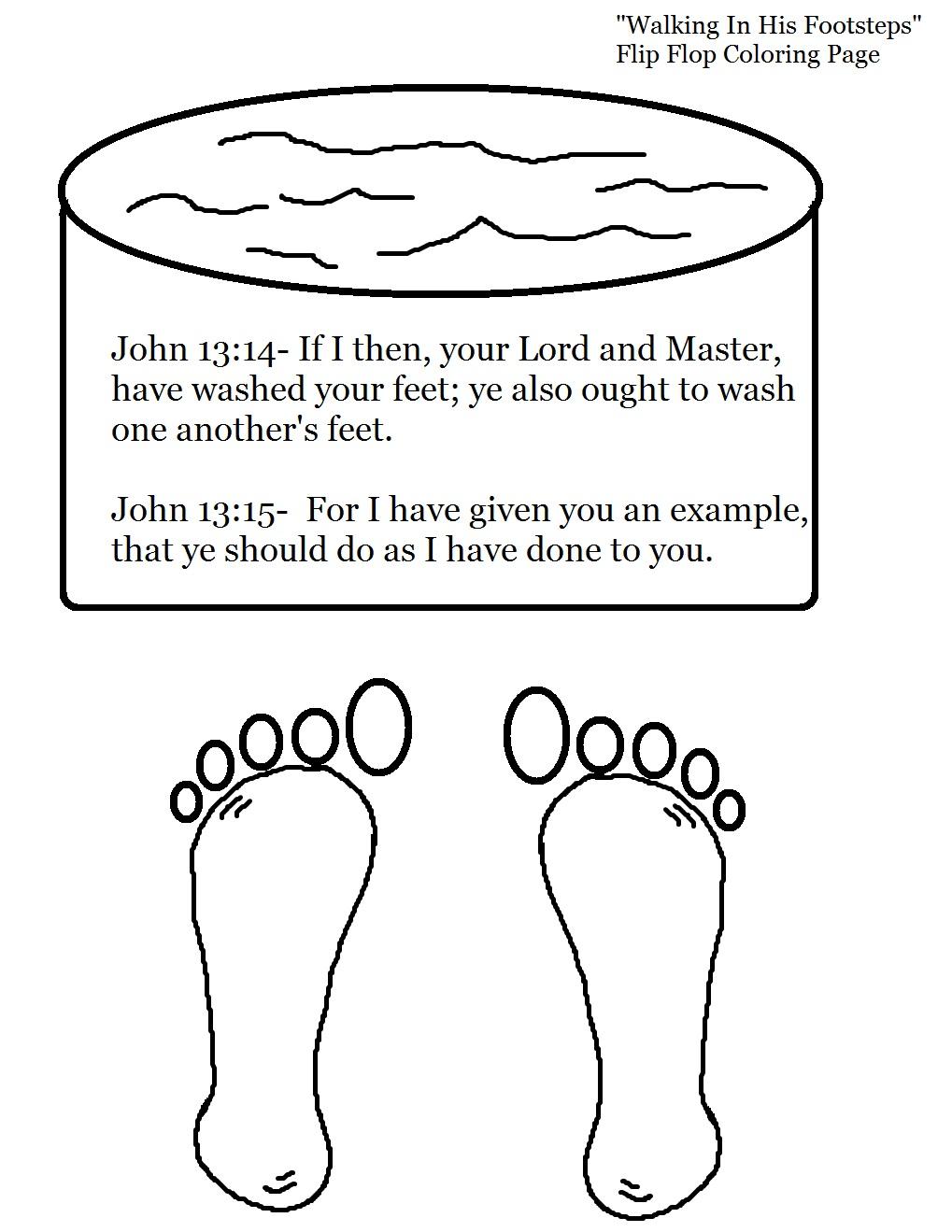 Jesus Washing Feet Coloring Page N3 free image