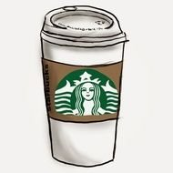 drawn Starbucks coffee cup