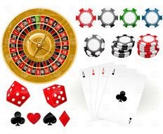 Colorful Casino Tools clipart