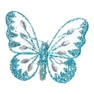 painted shiny blue butterfly