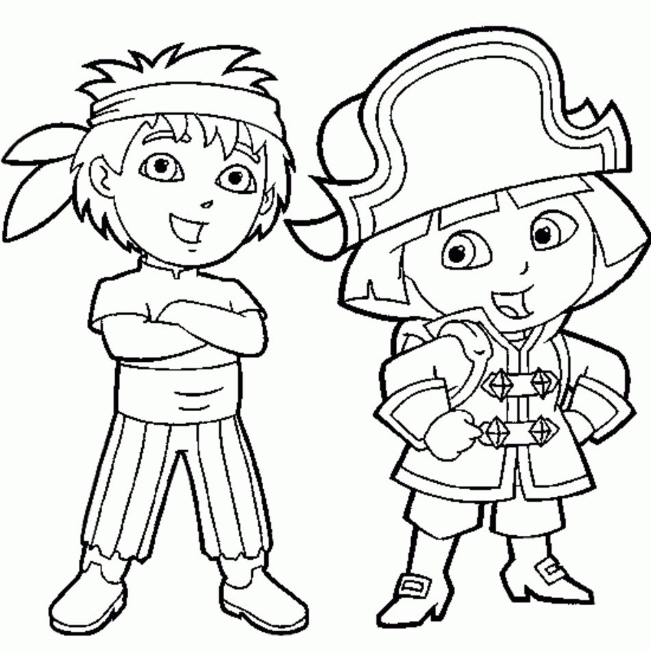Dora And Diego Coloring Pages Printable Free Free Image