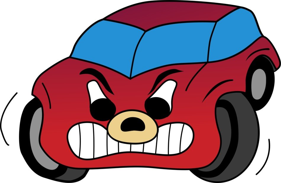Cartoon red car clipart