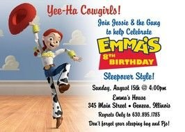 Clipart of Toy Story Jessie Party Invitations