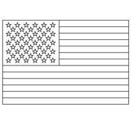 American Flag Coloring Page drawing