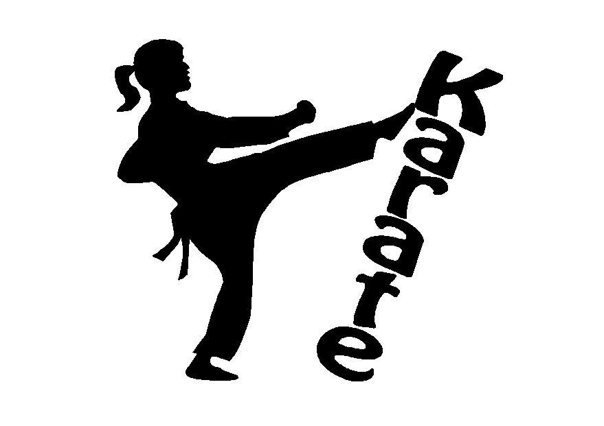Karate Girl Silhouette Drawing Free Image