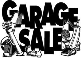 Garage Sale text Sign drawing