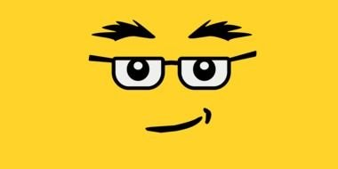 Yellow 'LEGO' Faces clipart
