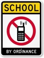 clipart of the School Sign No Cell Phone