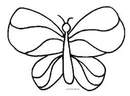Black and white outline drawing of the butterfly clipart