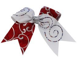 clipart of the Rhinestone Cheer Bows