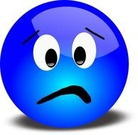 Blue sad face clipart