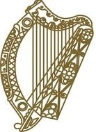 Irish Harp Symbol drawing