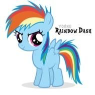 My Little Pony Rainbow Dash As Filly drawing