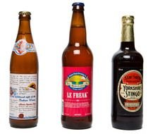 three bottles of irish brand beer as picture