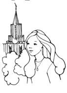 LDS Temple Clip Art drawing