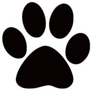 Paw Print Clip Art drawing